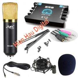 Combo Micro Ami BM800, sound card K10, full phụ kiện