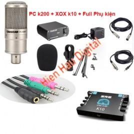 Combo Micro PC K200, SoundCard k10, Full Phụ kiện