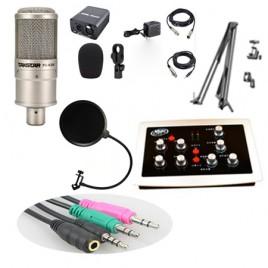Combo micro Takstar PC K200, sound card HF5000 Pro, Full phụ kiện