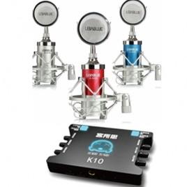 Combo micro Libablue K3000 và sound Card K10